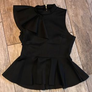 🌟NWOT PEPLUM BLACK Blouse🌟